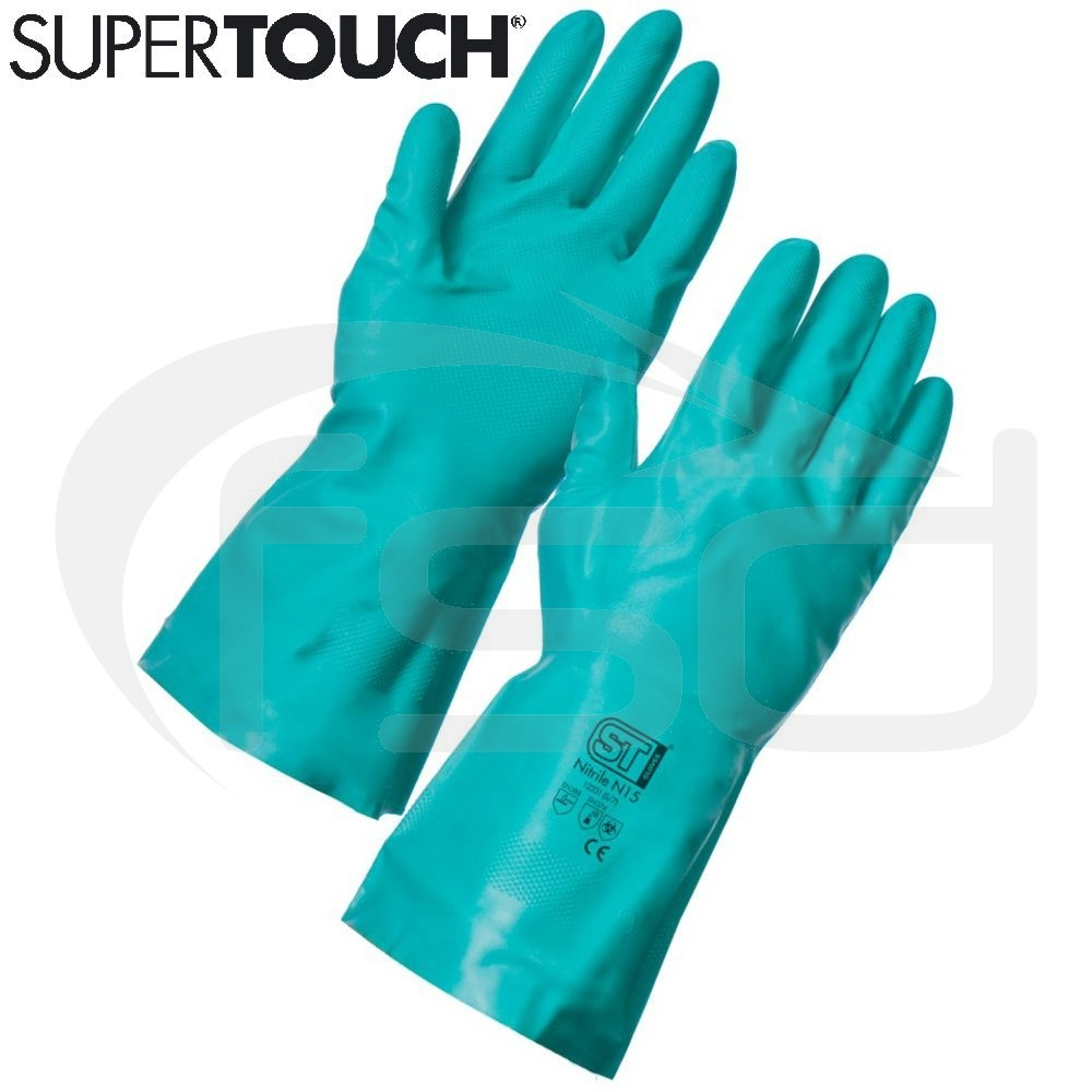 Nitrile N15 Gloves - Green - Size XL (10)