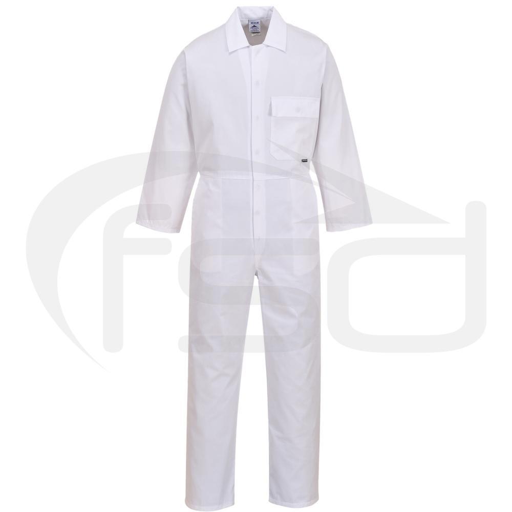 Fortis Standard White Coveralls