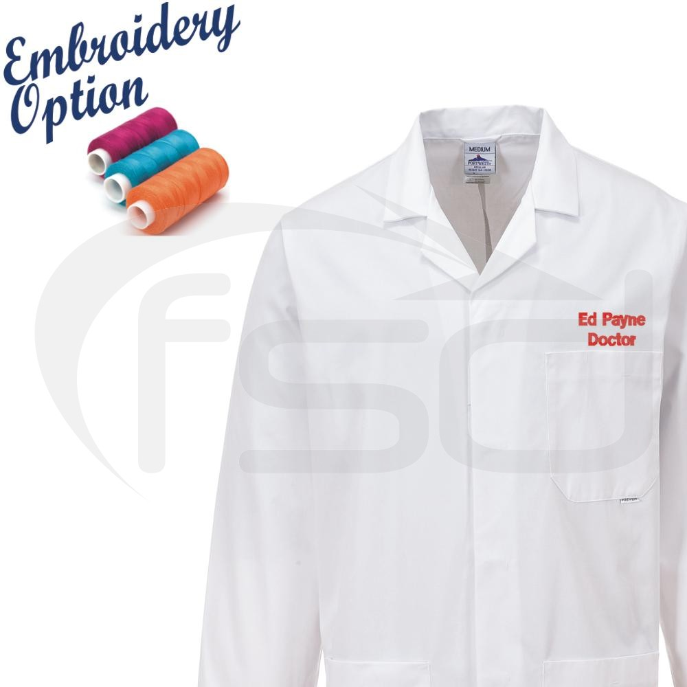 Embroidered Fortis Standard Lab Coat