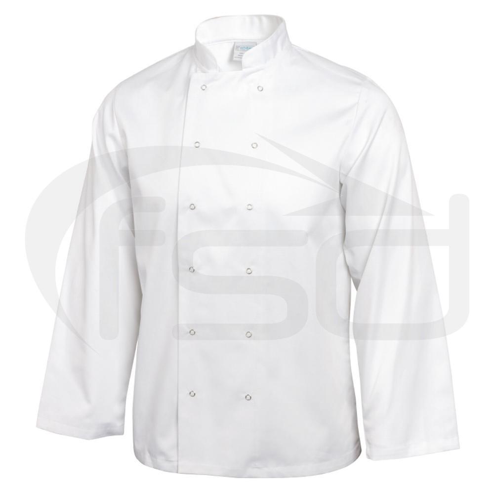 Vegas Chefs Jacket (Long Sleeve) - White