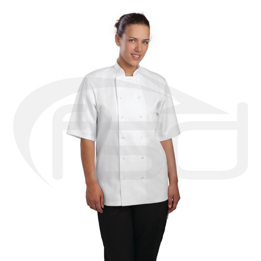 Clearance Vegas Chefs Jacket (Short Sleeve) - White (XS)