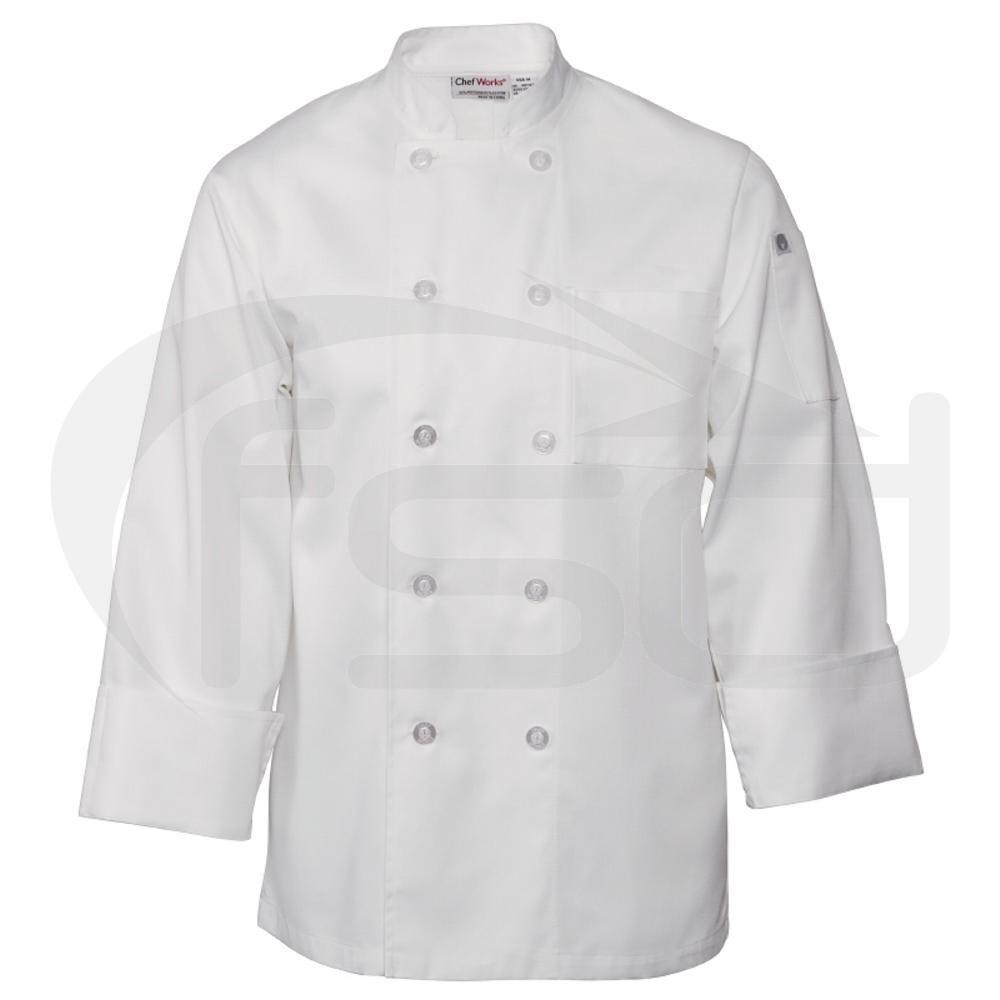 Le Mans Chefs Jacket - White
