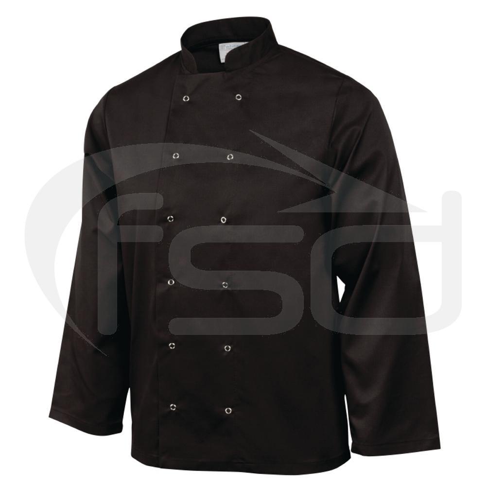Vegas Chefs Jacket (Long Sleeve) - Black