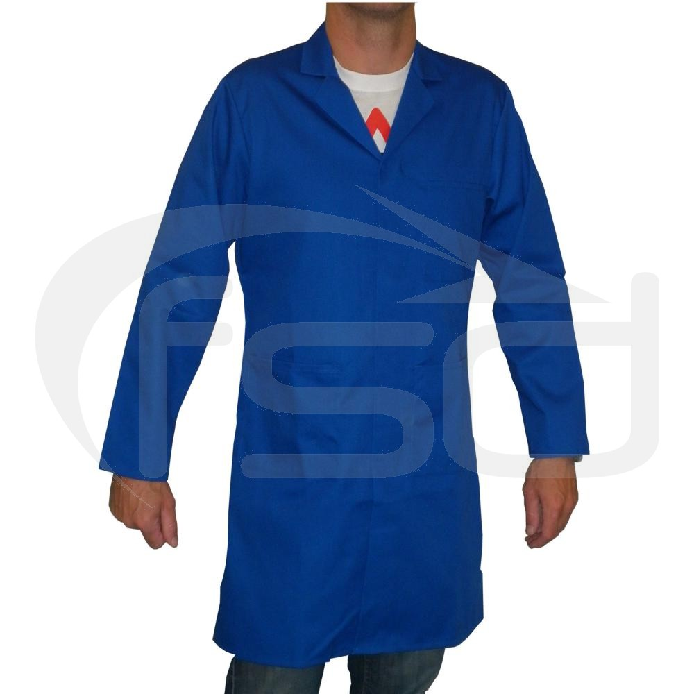Men's (Unisex) Food Trade / Warehouse Coat (No External Pockets) - Royal Blue