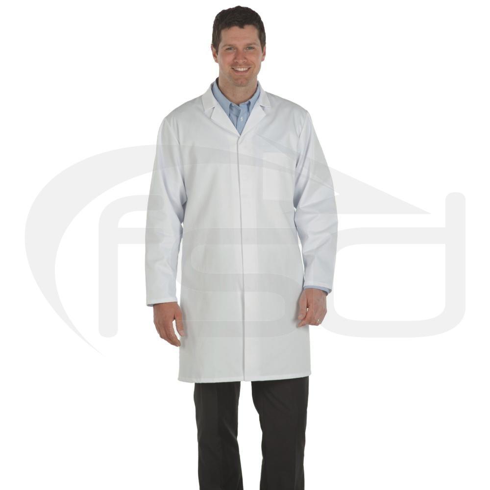 White Men's (Unisex) Food Trade Coat (No External Pockets)