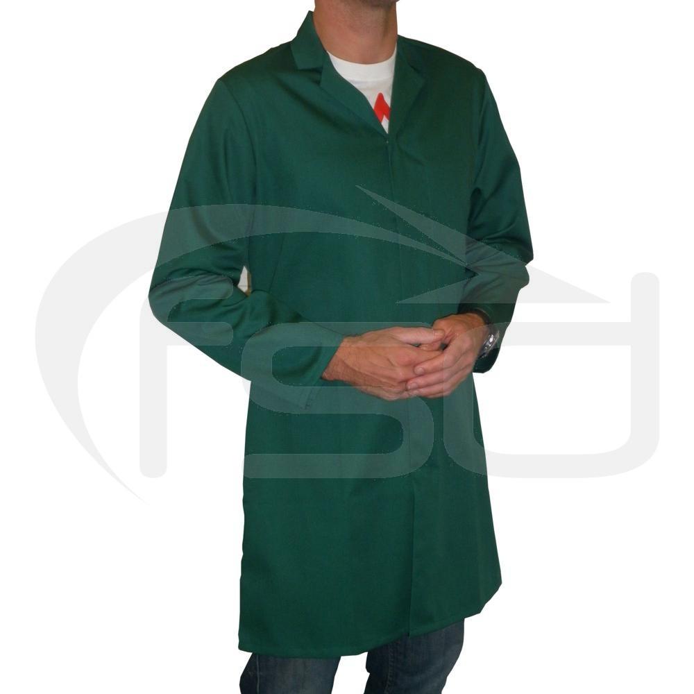 Men's (Unisex) Food Trade / Warehouse Coat (No External Pockets) - Bottle Green