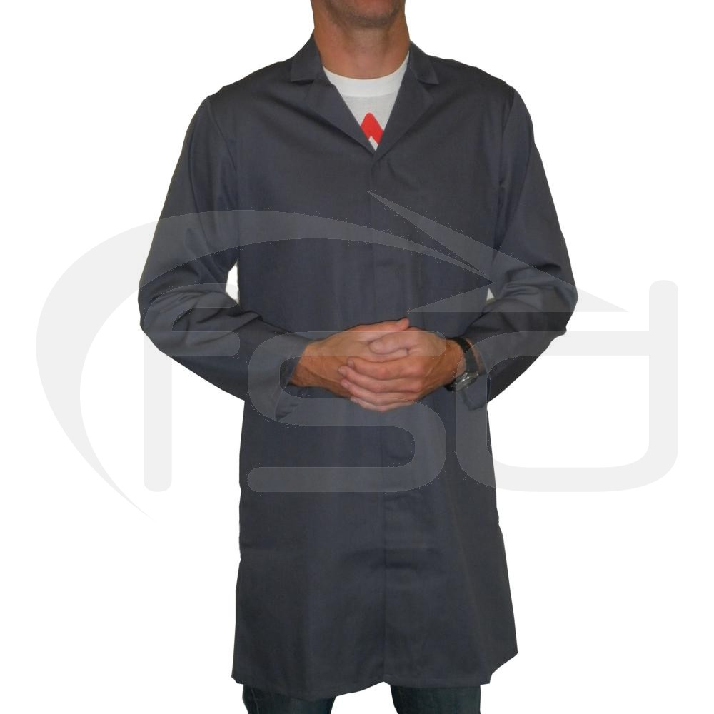 Men's (Unisex) Food Trade / Warehouse Coat (No External Pockets) - Grey