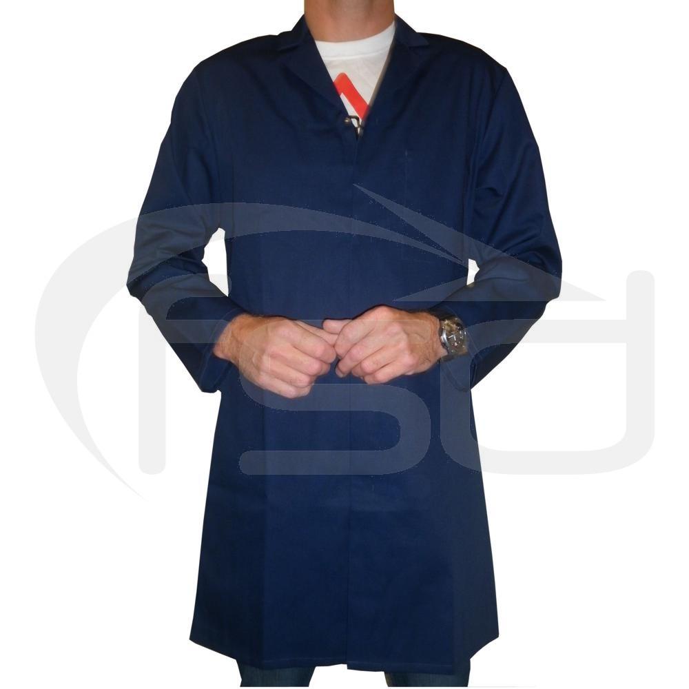Men's (Unisex) Food Trade / Warehouse Coat (No External Pockets) - Navy