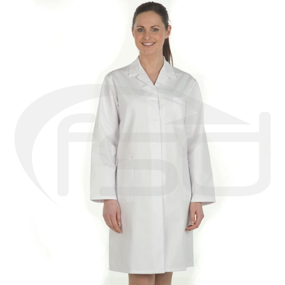 "Ladies White Lab Coat - 96cm (38"") - Tiny Mark on Collar"