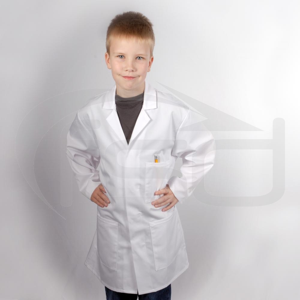 """Kids Lab Coat - 72cm (28"""") - Few dust marks - will wash out"""