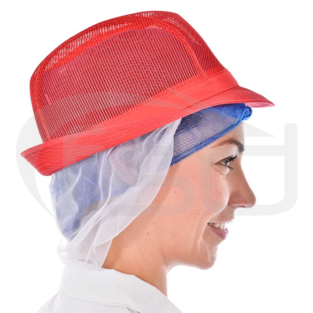 Red Trilby with Snood