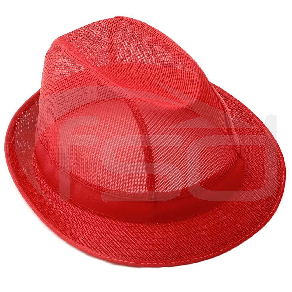 Coloured Trilby in Red