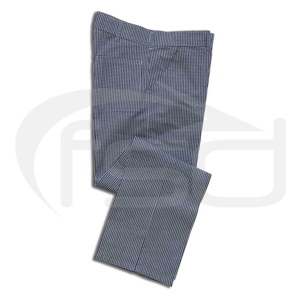 Chef's Trousers - Small Blue Checks