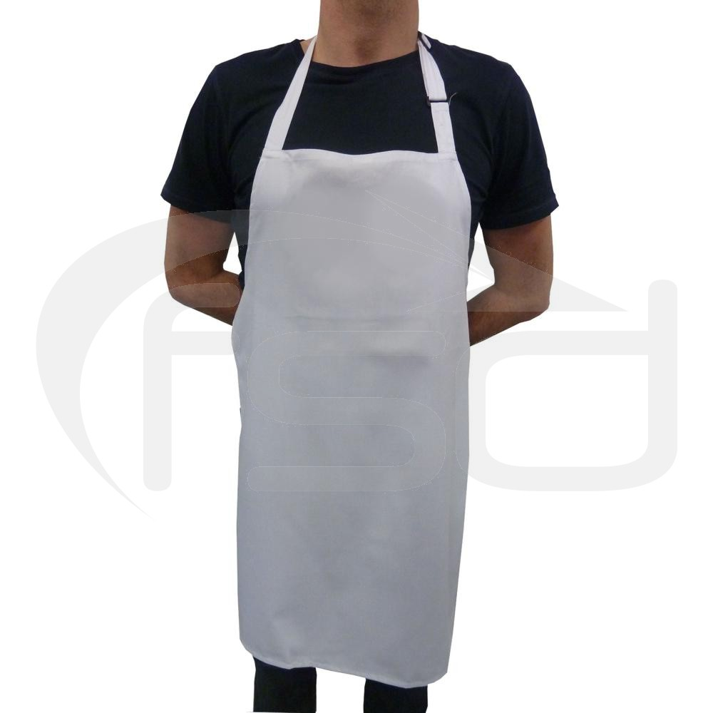 White Full Length Apron