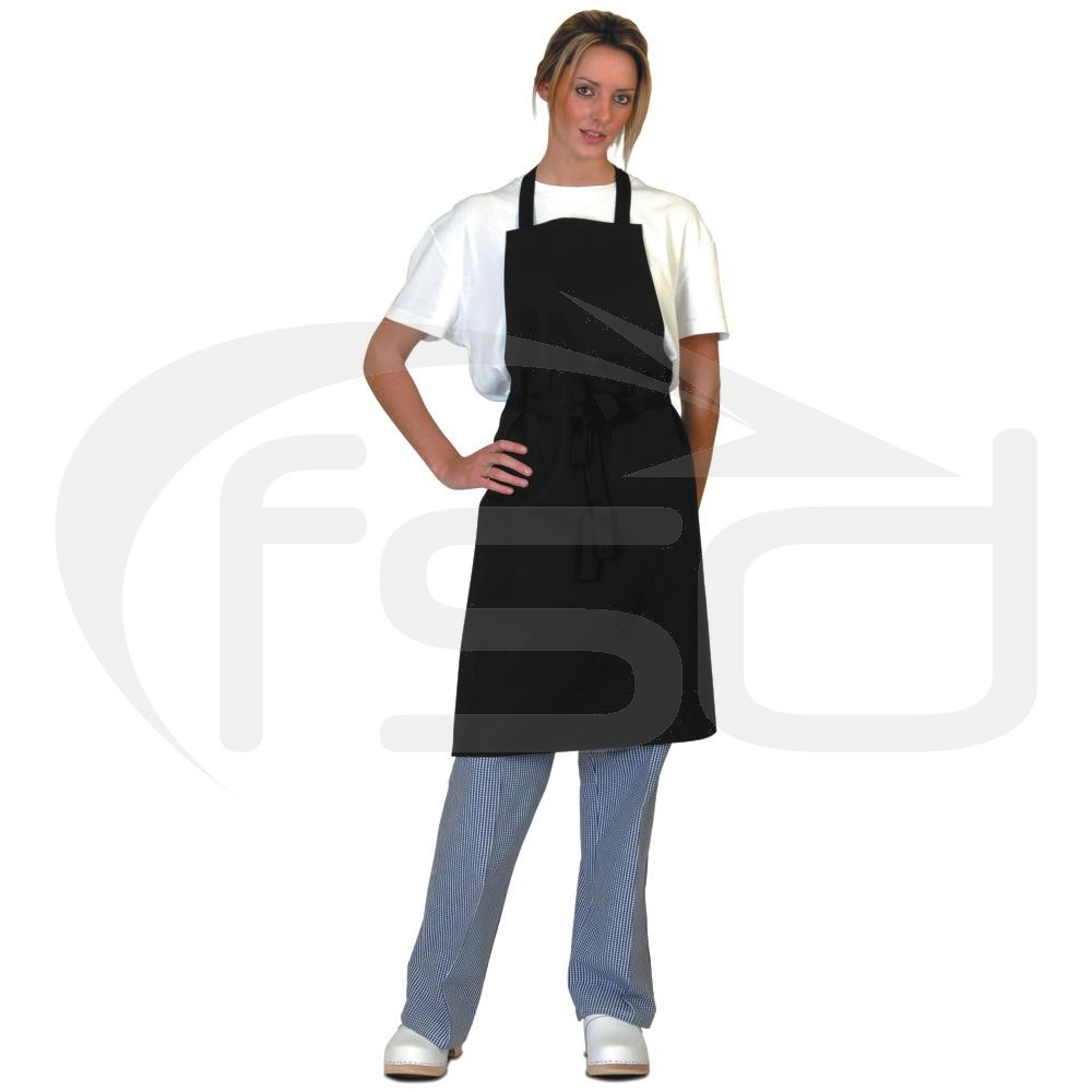 Black Full Length Apron