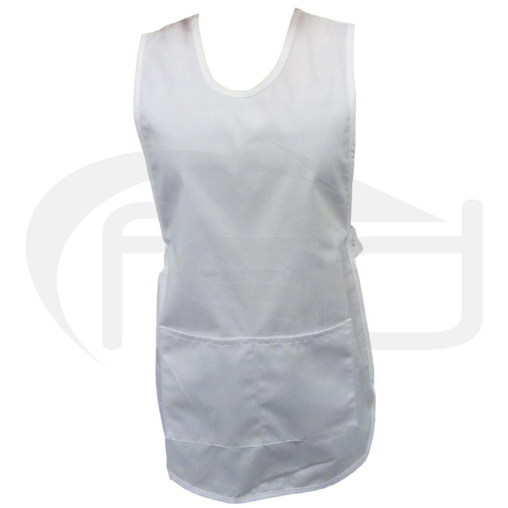 White tabard apron - White Tabard
