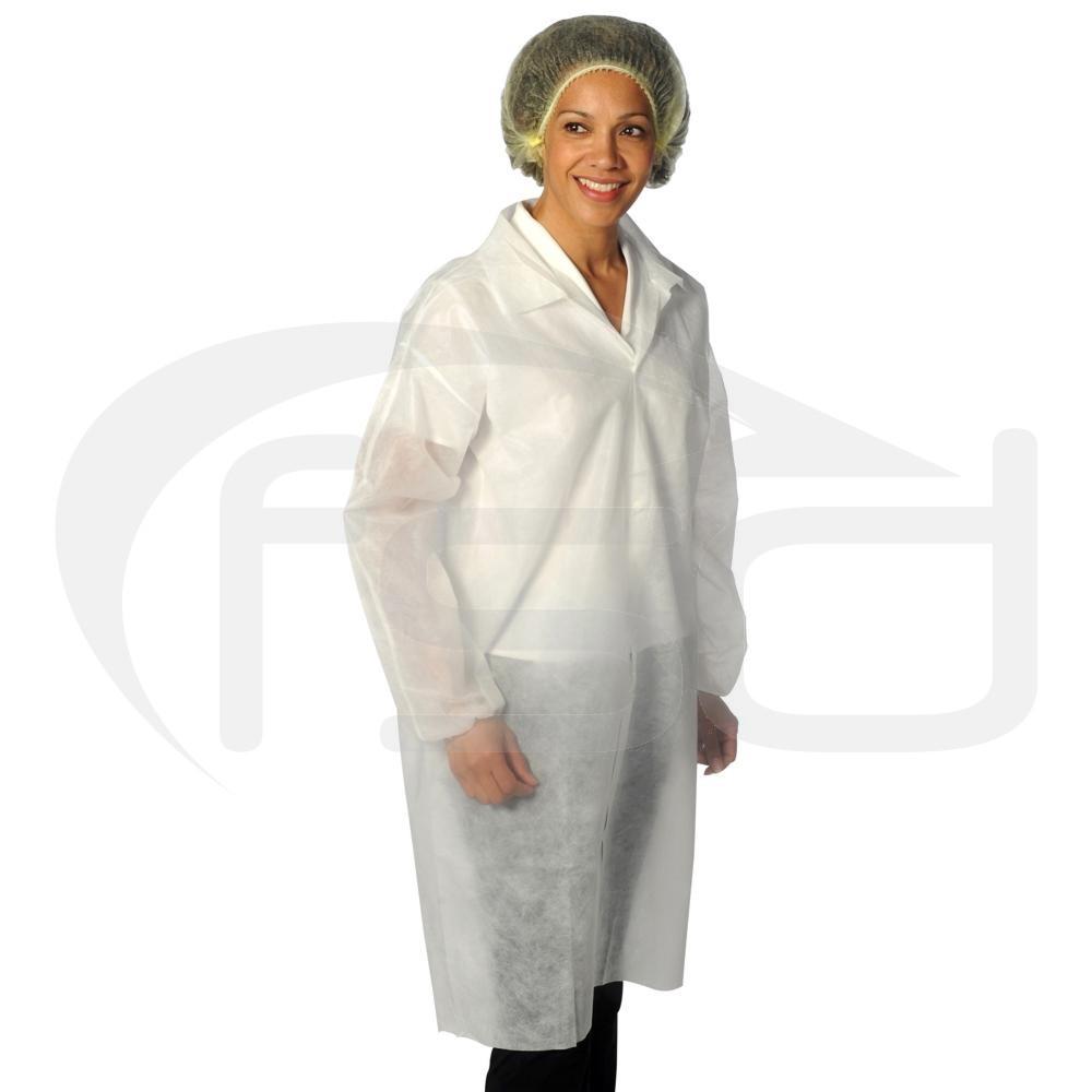 Non-Woven Coat - White