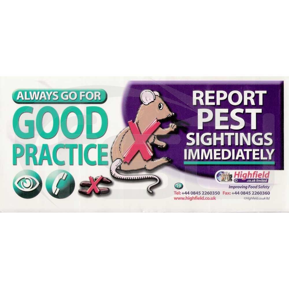 Report Pest Sightings Immediately