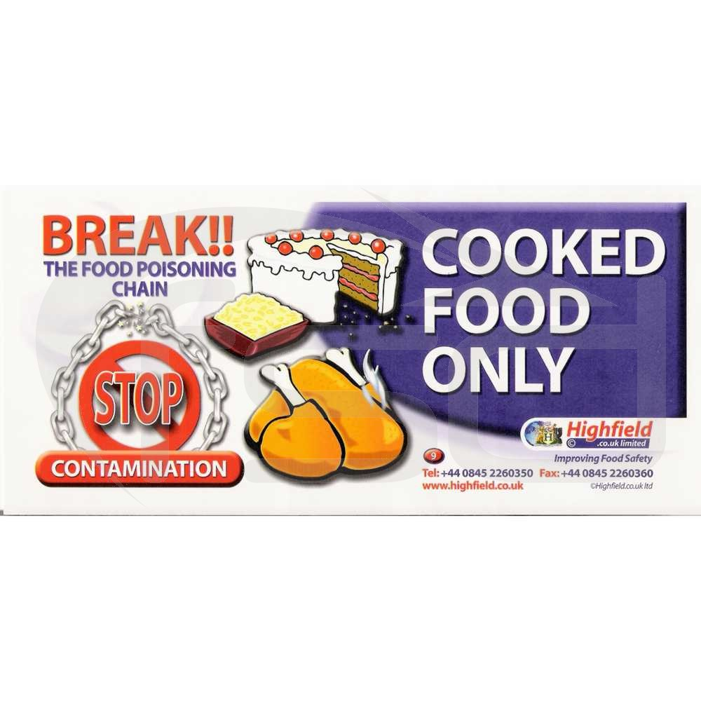 Cooked Food Only