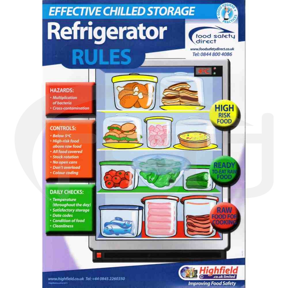 Refrigerator rules poster posters catering equipment food safety direct - Direct equipement cuisine nobilia ...