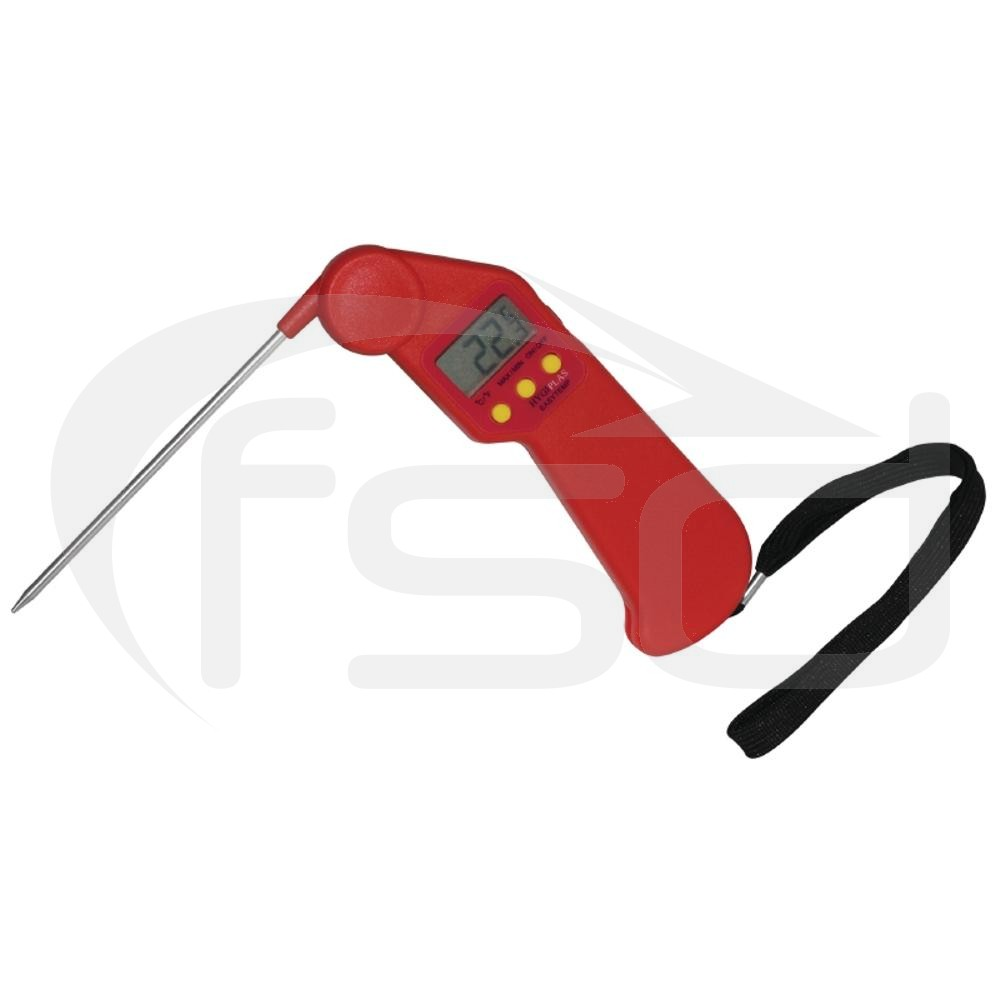 Hygiplas Easytemp Folding Thermometer in Red