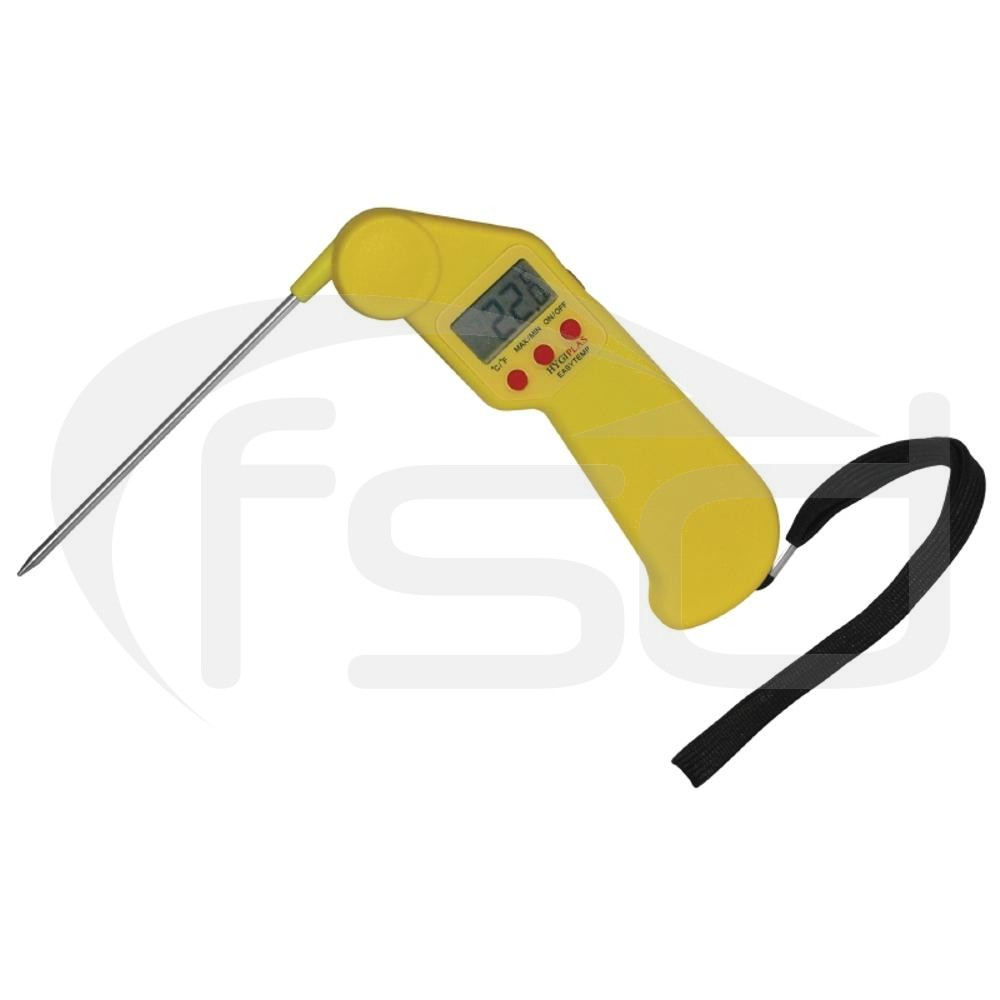 Hygiplas Easytemp Folding Thermometer in Yellow