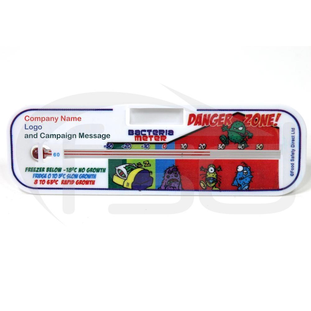 Custom Printed Bacteriameter Fridge Freezer Thermometer