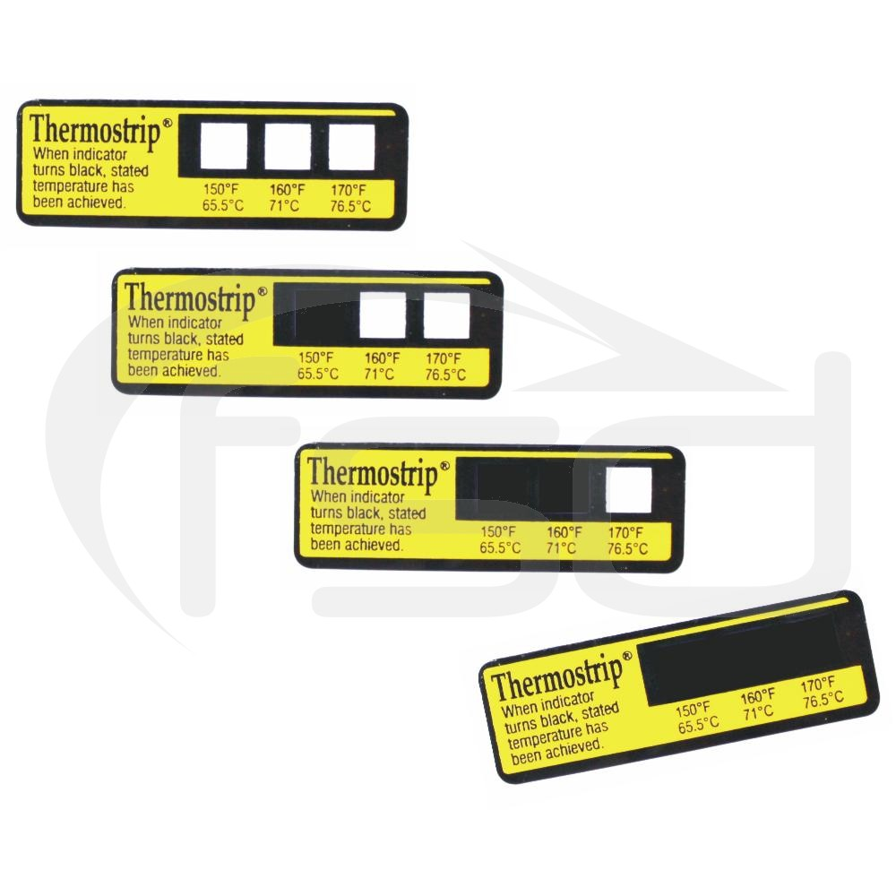 Thermostrip® Dishwasher Temperature Testing Strip 3 Temperature Points (16 Pack)