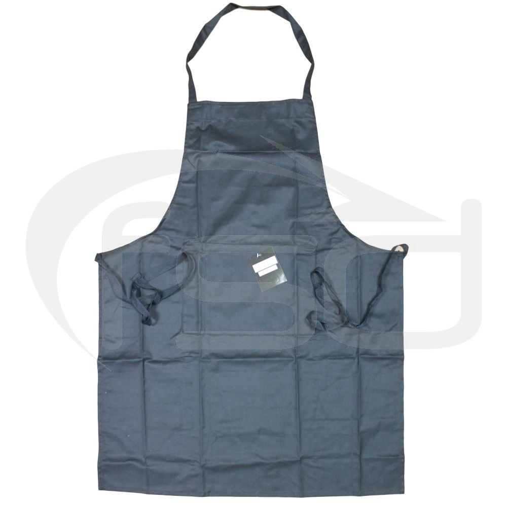 Black 100% Cotton Apron - One Only
