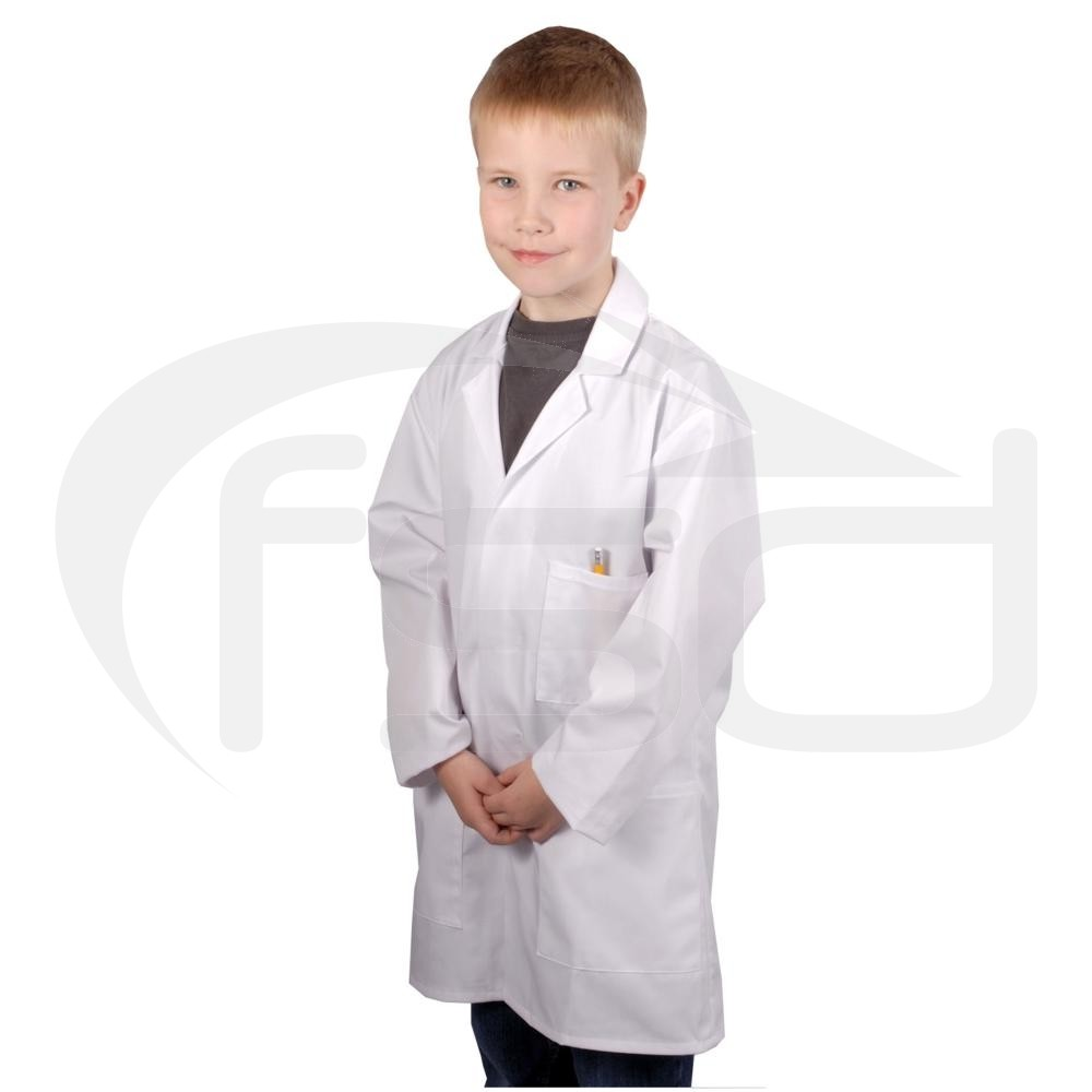 """Clearance Kids Lab Coat (Size 34""""/13-14 years) - Some faint marks - may wash out"""