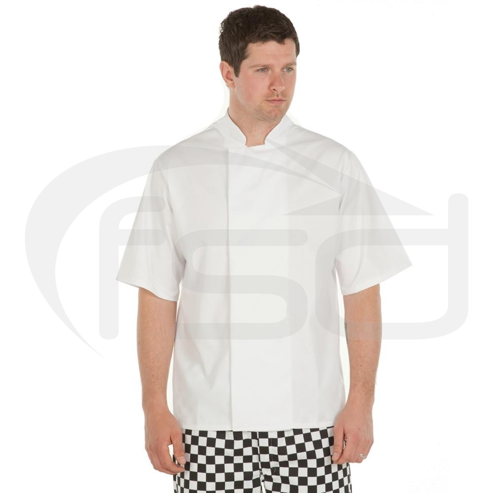 Chefs Jackets with Techno Mesh Back (Short Sleeved) - White