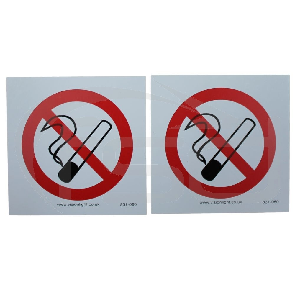 No Smoking Signs - Pack of 2