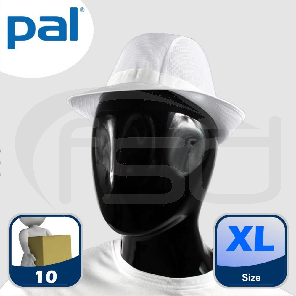 Case of PAL White Trilbies - Extra Large (Qty: 10)