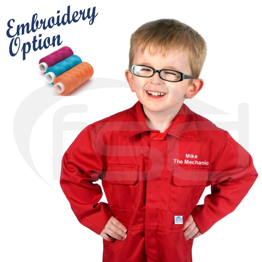 Embroidered Kids Coveralls