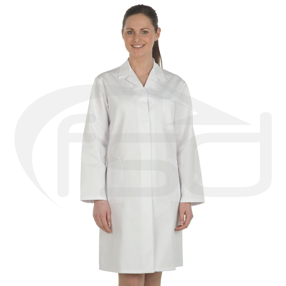 Ladies White Lab Coat - Food Safety Direct