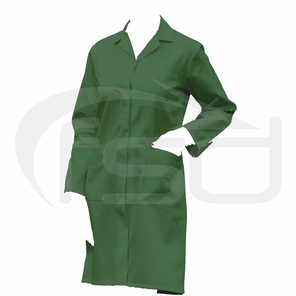 """Clearance Ladies Lab Coat / Warehouse Coat in Green (Size 34""""/88cm) - Brand new"""