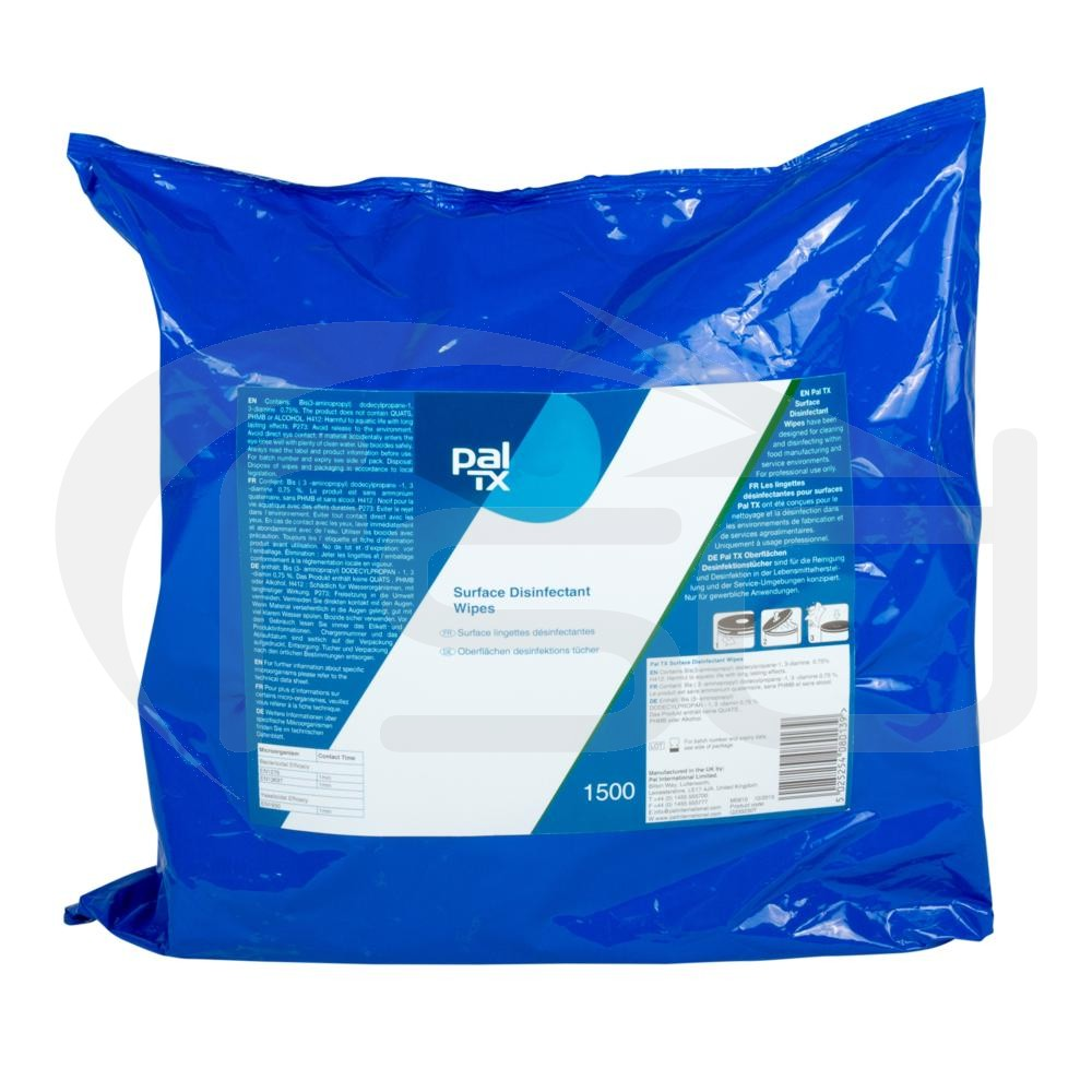 Pal TX Surface Disinfectant Wipes - Refill Pack - 1500 Wipes