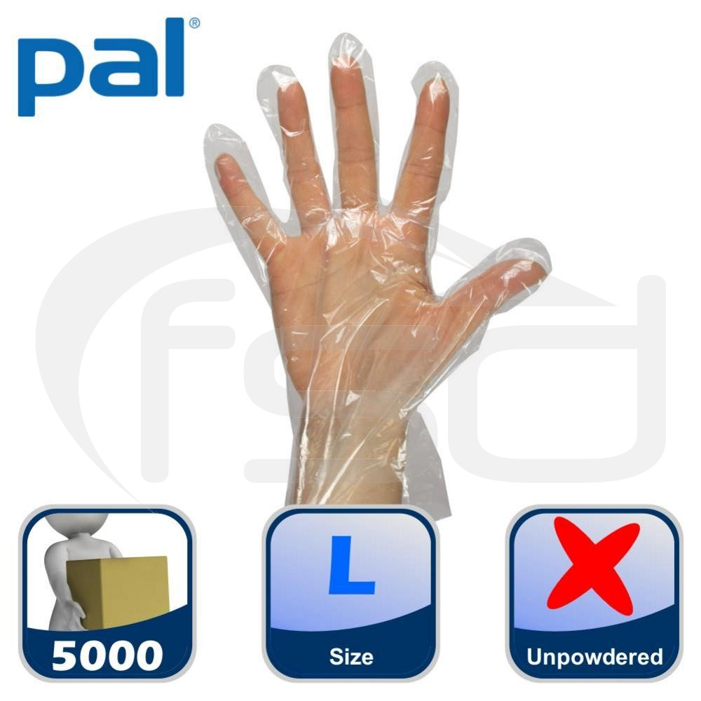Case of PAL Polythene Gloves - Large (50 x 100)