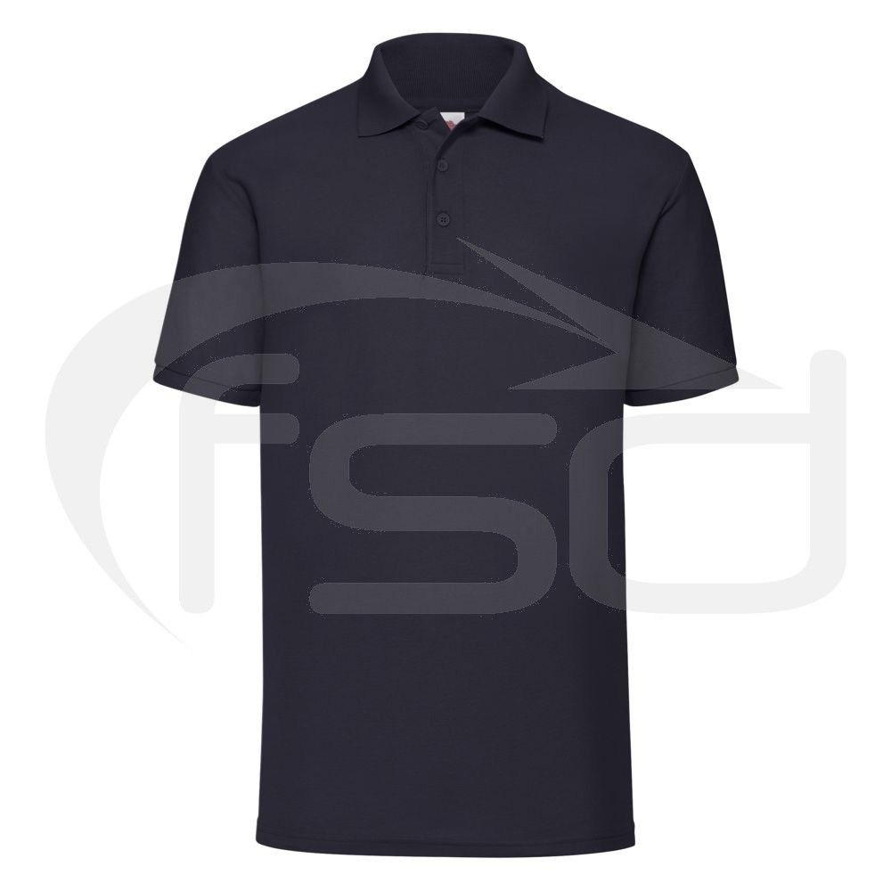 Fruit of the Loom Polo Shirt - Navy (L)