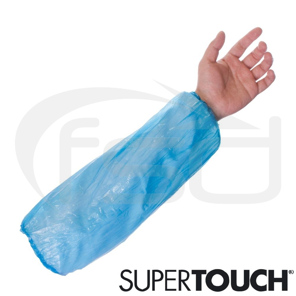 Supertouch Economy Disposable Oversleeves (Blue) - Pack of 100