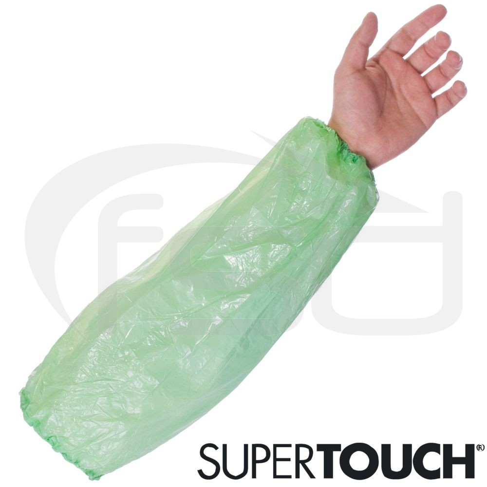 Supertouch Economy Disposable Oversleeves (Green) - Pack of 100