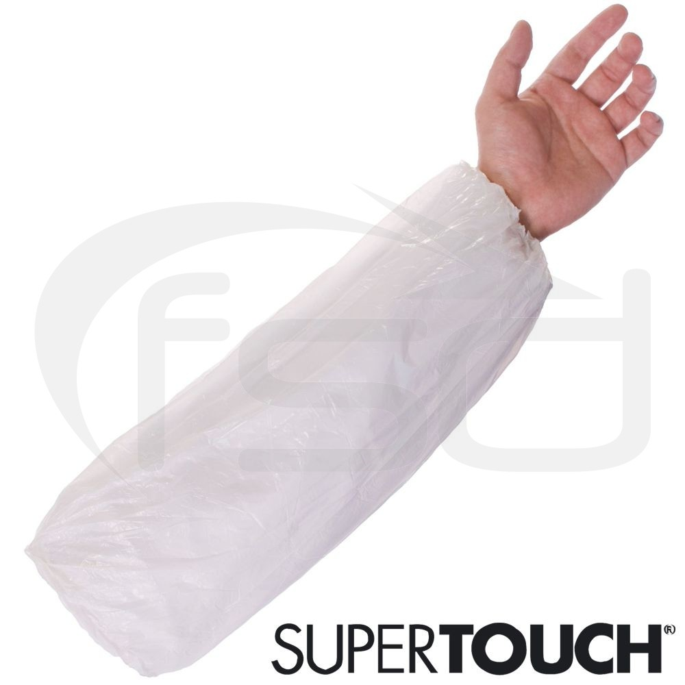Supertouch Economy Disposable Oversleeves (White) - Pack of 100