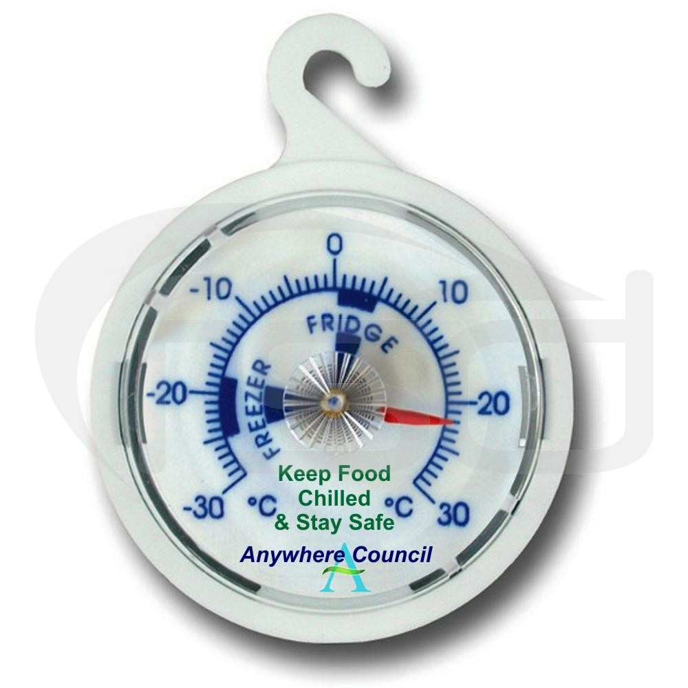 White Dial Fridge Freezer Thermometer