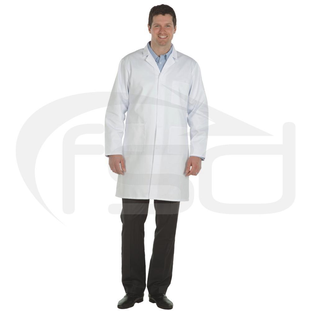 White Men's (Unisex) Lab Coat - Food Safety Direct