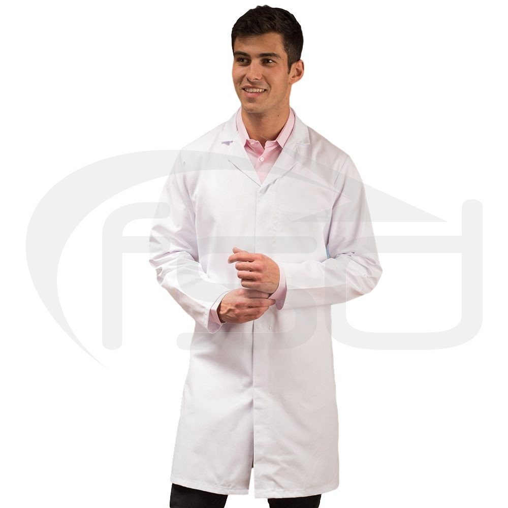 White Men's (Unisex) Food Trade Coat (No External Pockets)