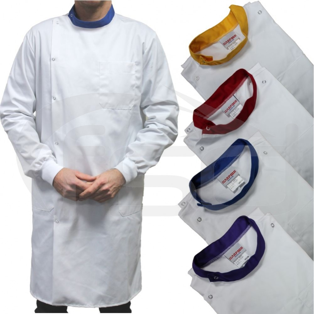 White Howie Lab Coats with Coloured Collar