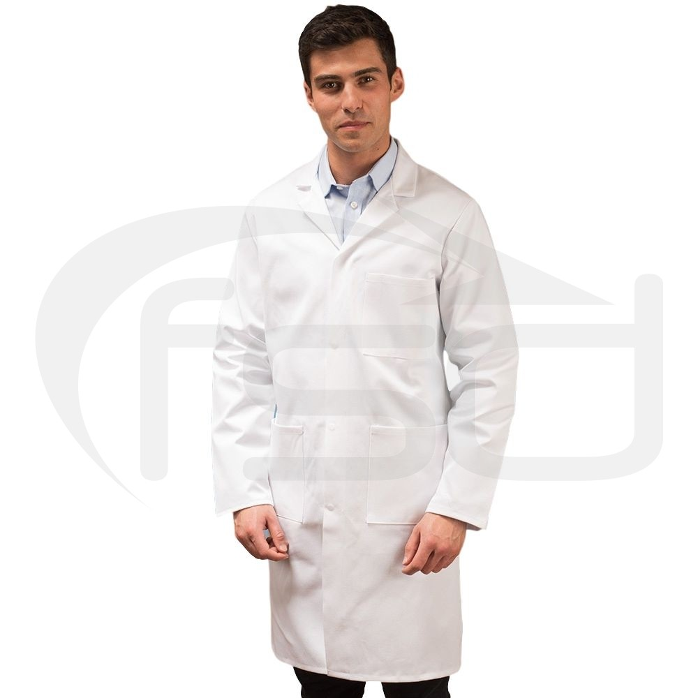 White Men's (Unisex) Lab Coat