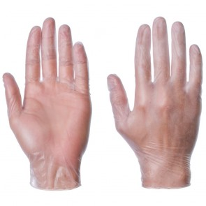 Vinyl Gloves (Powder-Free) - Clear/White