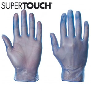 Supertouch Vinyl Gloves (Powder-Free) - Blue