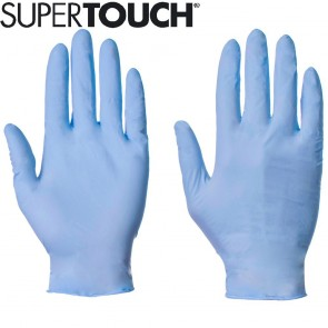 Supertouch Nitrile Gloves (Powder-Free) - Blue - 100 Pack